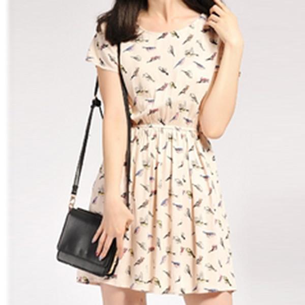Объявление Платье с птичками (2 фотографии). Платье на торжест