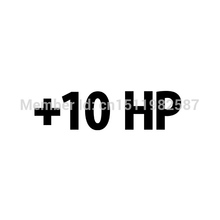 Plus-10-Hp-Decal 10 Horsepower Racing Car Window JDM Funny Vinyl Sticker For Reflector Truck Bumper Auto SUV Cool Graphical