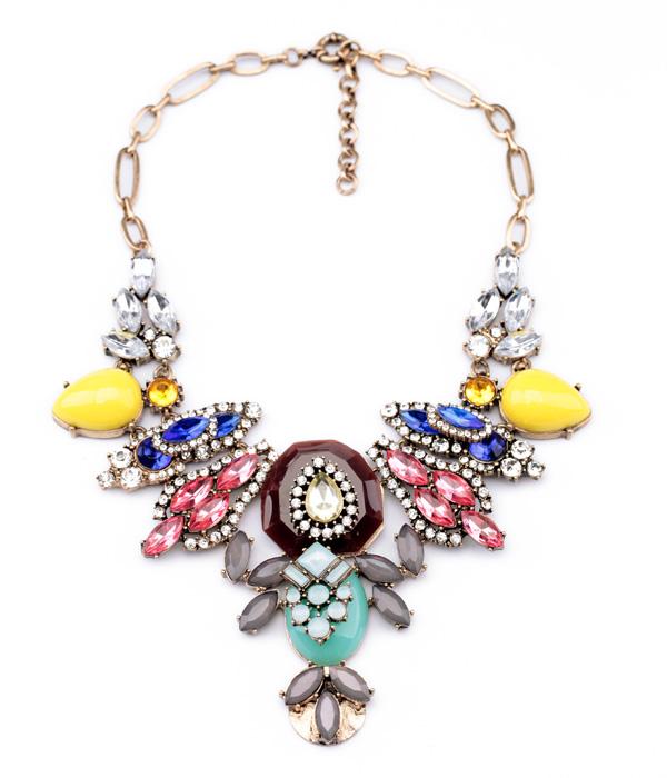 New Styles 2015 Statement Fashion Women Jewelry Insert Pendant Short Necklace(China (Mainland))
