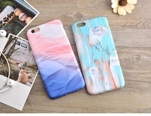 Scrub Air Cushion Anti-Knock Small fresh color Clouds Wood texture plastic Material phone case For iPhone6 6S 6/6S PLUS R566