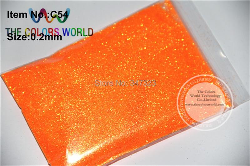 TCH1742 wholesale 0.2mm 008 size Shinning Neon Rainbown Orange Color Glitter Powder(China (Mainland))