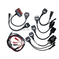 High Quality full set tcs CDP Plus car cables cdp+ 8 car leads diagnostic Interface cable for wow snooper Multidiag pro