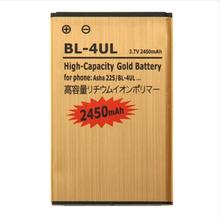 wholesale 2450mAh High Capacity Li-ion Mobile Phone Battery for Nokia Asha 225 Gold50pcs/lot