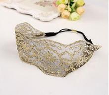 Fashion Korean Style Lace Flower Elastic Headband Hairband Hair Accessory For Women & Girls Hot Lovely Wedding Headwear(China (Mainland))