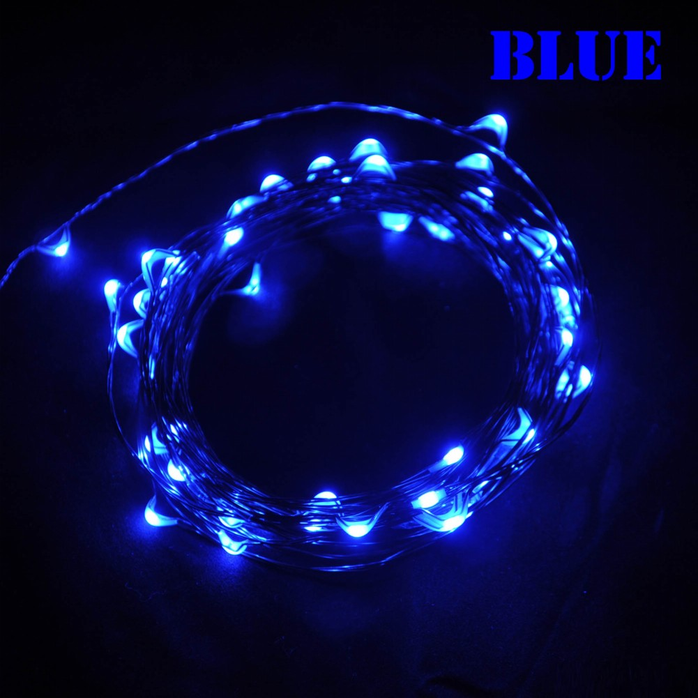 W m leds multi colored copper wire led light string