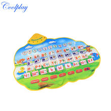 Free shipping CP1334-1NC  73X49cm Russian Learning Mat /Russian Child's Play Musical Mat for Baby Kids Girls(China (Mainland))