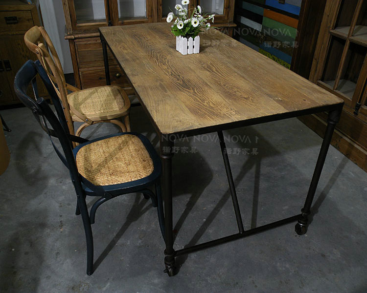 Nothing rustic wood conference tables wrought iron for Ornamental centrepiece for a dining table