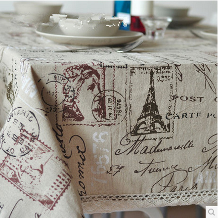 Linen Table Cloth Tablecloth Table Cover High Quality Bohemian Style Free Shipping Southeast Asia Nepal style(China (Mainland))