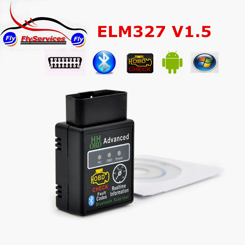 Super A+ Quality HH Advance OBD2 Scan Adapter Elm327 V1.5 Firmware With PIC18F25K80 Chip Work With Android Torque And Windows PC(China (Mainland))