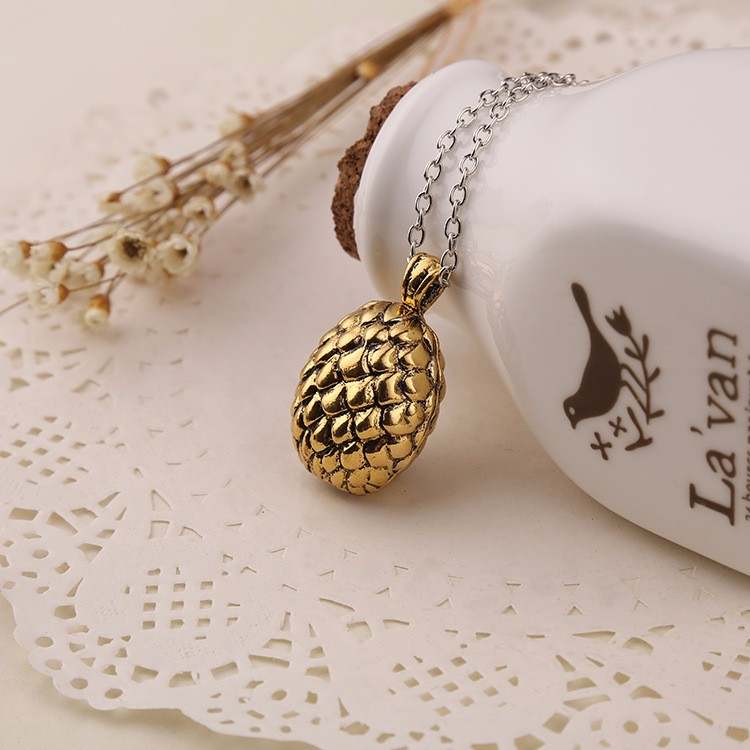 Game of Thrones Inspired Dragon's Egg Pendant Necklace Costume Accessory cosplay party jewelry gift