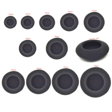 35mm 40mm 45mm 48mm 50mm 55mm 60mm 65mm 70mm 75mm Replacement 5 pair foam cover cushion pads pillow for headphone headset(China (Mainland))