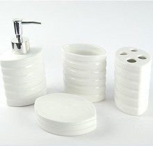 Free Shipping, Hot Selling, 4pieces/lot  High Quality Bathroom Accessories Ceramic Bathroom Set(China (Mainland))