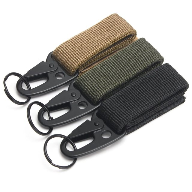 Tactical Nylon Belt Metal Hanging Carabiner