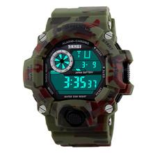 Brand New SKMEI 2016 Army Camouflage military watch reloj led digital sports watches relogio masculino esportivo shock clock(China (Mainland))