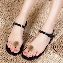 Sandalias Femininas Real Special Offer Open Open Toe free Shipping 2015 Flat Sandals Female Shoes Jelly Flip-flop Mushroom Head