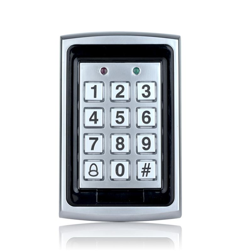 Waterproof Metal Door Mirror RFID Reader & Keypad Door Access Control 3000 users
