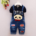 New Autumn Thick Warm Kids Boy Girl Clothes Set Long Sleeve Tops Long Suspender Trousers