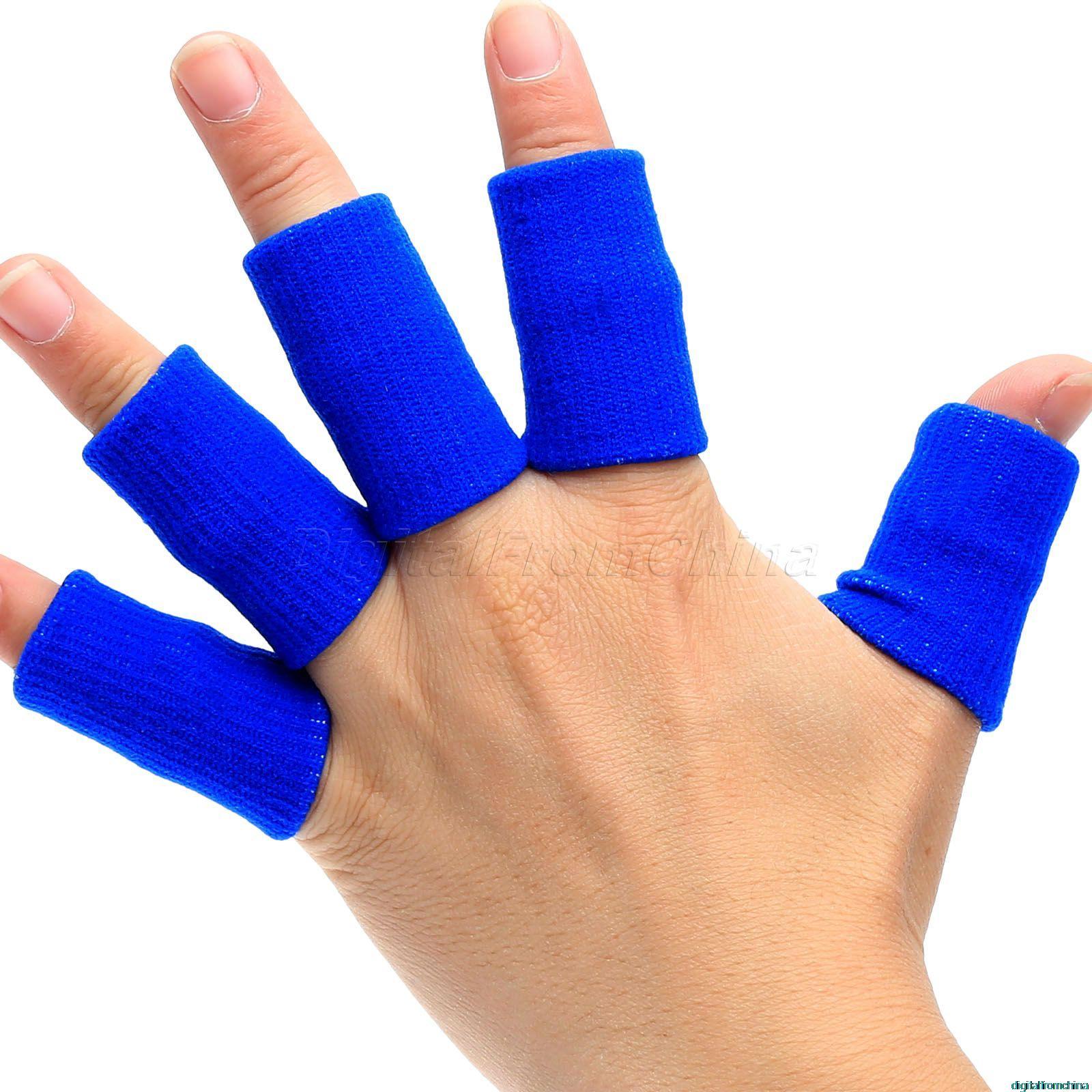10pcs/set Sport Finger Splint Guard Bands Bandage Support Wrap Basketball Volleyball Football Fingerstall Sleeve Caps Protector<br><br>Aliexpress
