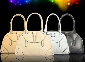 New Women Vogue Casual 100% Genuine Leather Handbag/ Messenger Bag Black/White/Beige/Yellow