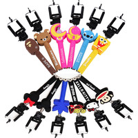 CARTOON Cheap Selfie Stick Suitable for iphone and all cellphones & cameras