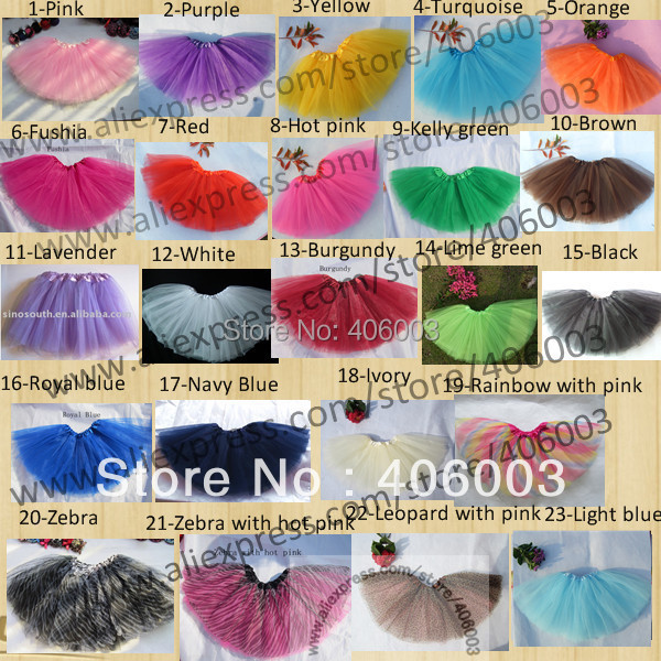 Wholesale free shipping  girls  tutu 23color in stock<br><br>Aliexpress