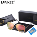 LVVKEE Brand Classic Polarized Sunglasses Men Women Colorful Reflective Coating 62mm Lens Eyewear Accessories Sun Glasses