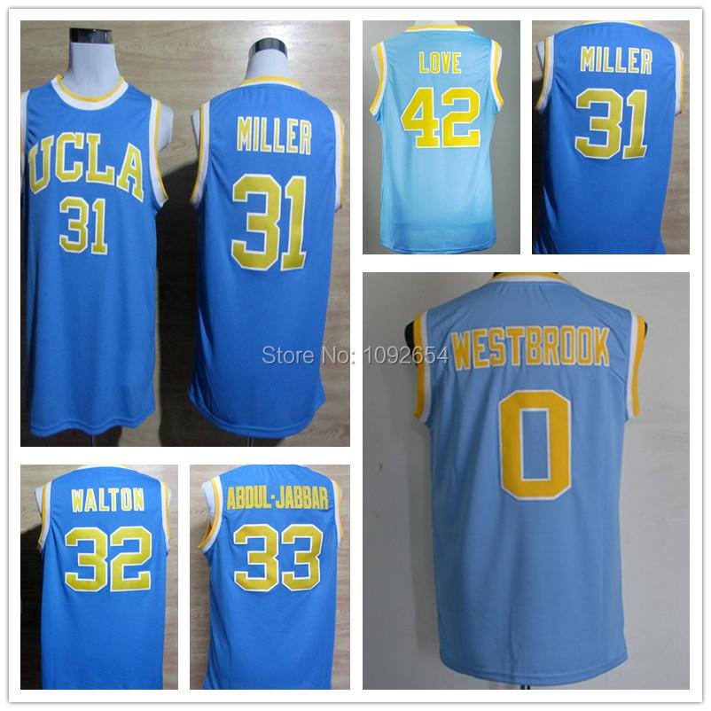 Гаджет  0 Russell Westbrook Reggie Miller Bill Walton Kareem Abdul Jabbar Kevin Love UCLA Jersey, NCAA Bruins College Basketball Jersey None Спорт и развлечения
