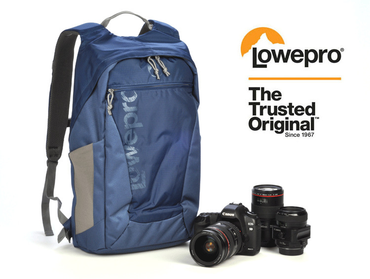 FREE SHIPPING (Galaxy Blue) Lowepro Photo Hatchback 22L AW DSLR Camera Bag Daypack Backpack with All Weather Cover(China (Mainland))