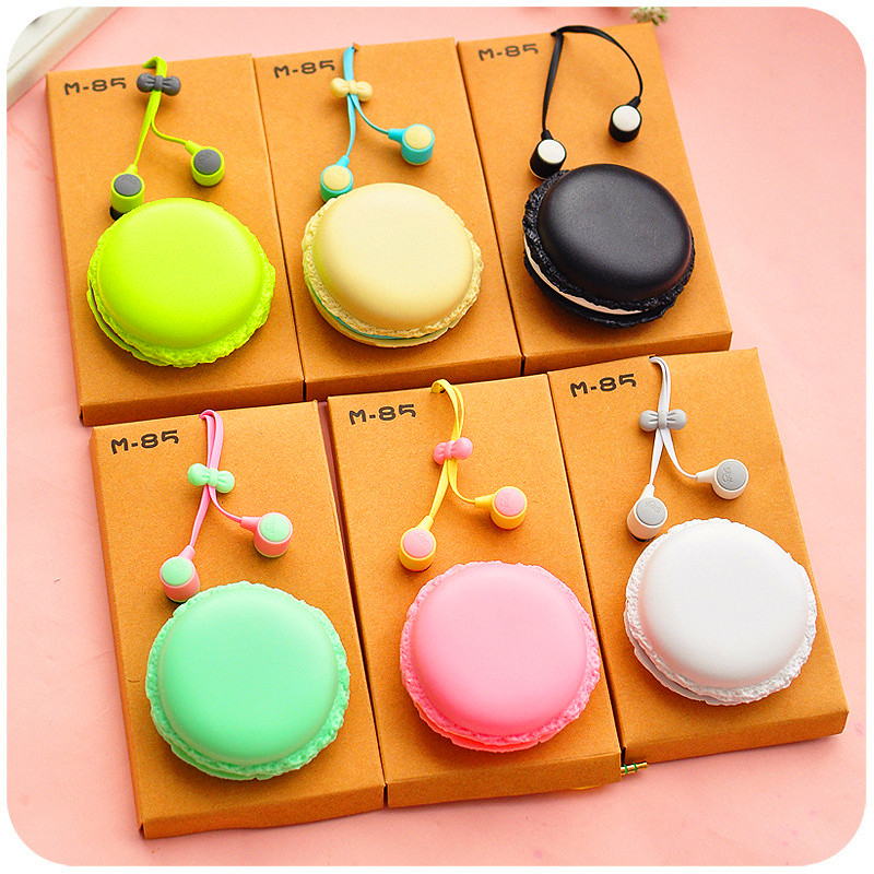 2016 New Hot Macarons Candy Color in-ear Earphones Gift for All Phones Cute Girl Daughter for XIAOMI MP3 MP4 Music Player(China (Mainland))