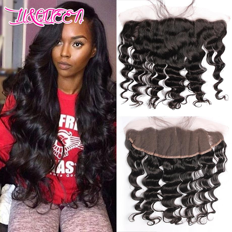 Hot Sell 13x4 Lace Frontal With Bundles Loose Wave 7A Human Hair Brazilian Virgin Hair Loose Wave Hair 3 Bundles With Closure(China (Mainland))