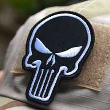 Exclusive 3D embroidery Punisher 3 Velcro armband morale color double-sided Velcro patch affixed military patches badges