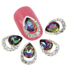 1 3D Nail Art Rhinestones Hollow Water Drop Diamond Design Charm Women DIY Decorations MA0486 - Beauty Me Fashion Store store