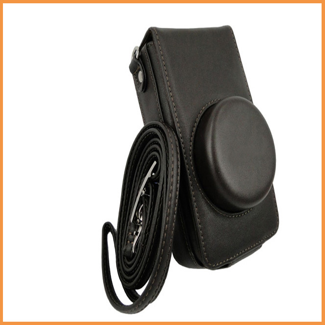 Free shipping Leather Camera Holster Cover Protector Case Bag For Leica X2 X1 With Strap dark brown