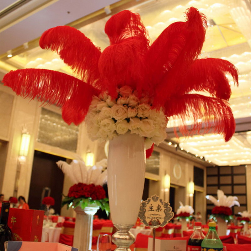 Wholesale 50 Pcs 100pcs Ostrich Feathers Wedding 12-14 Inches 30-35 Cm(All) Free Shipping(China (Mainland))