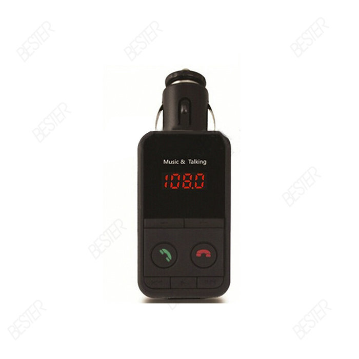 Handsfree Bluetooth Car Kit MP3 Player MIC FM Transmitter Modulator SD USB Mini LCD Remote 4JD5 BS662(China (Mainland))