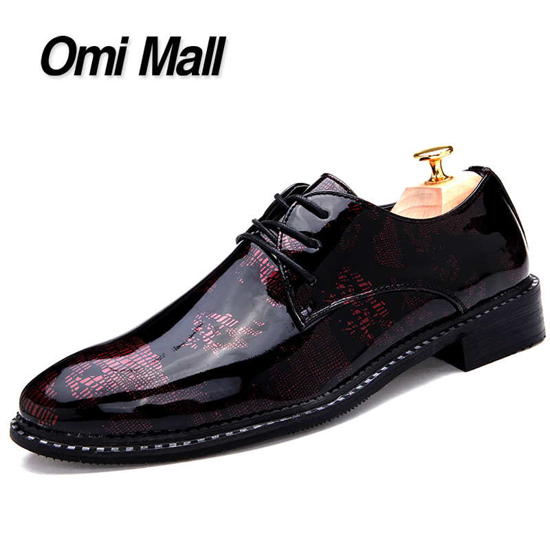 2015 Fashion Pointed Toe Men's Oxford High Quality Leather Shoes Men's Print Lace Up Dress Leather Shoes Men's Oxfords Shoes(China (Mainland))