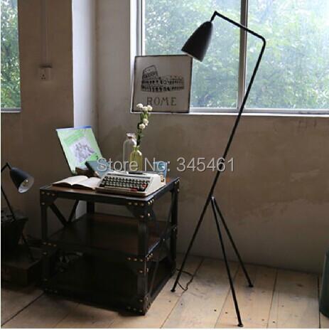 Mediterranean Style tripod floor lamp lights Long arm of Nordic creative bedroom/ living room /Sofa floor lamp Black(China (Mainland))
