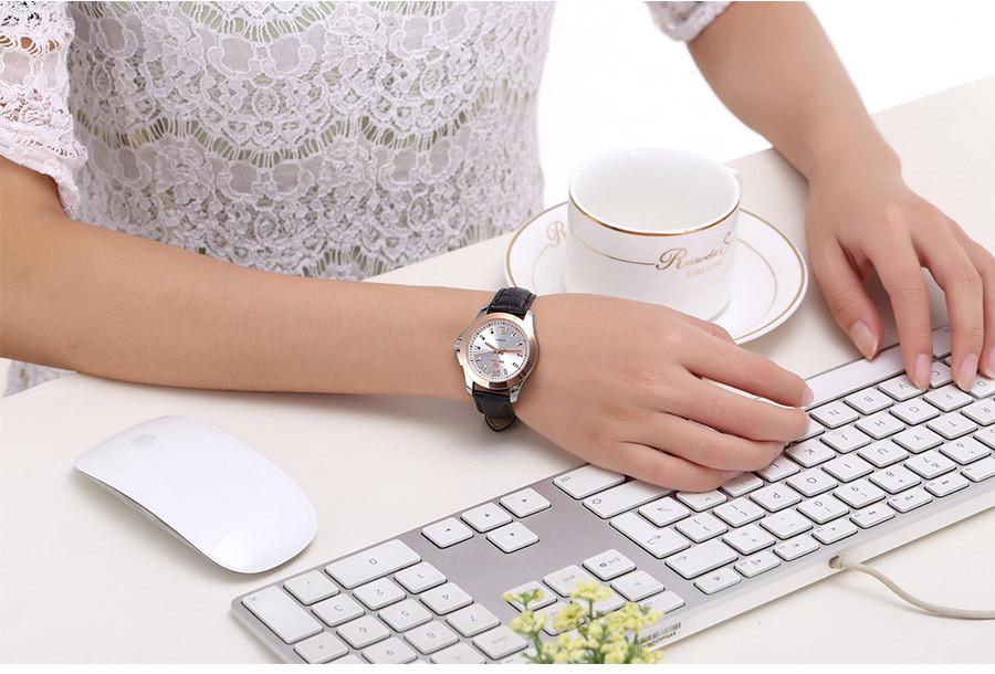 Top brand Megir кварцевые часы мужчина женщина мода натуральной кожи водостойкой наручные часы 5006 бесплатная доставка