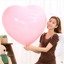 1 piece 24 inch 6 Colors Big Heart Balloons Latex Birthday Wedding Romantic Balloons Wholesale And Retail(China (Mainland))