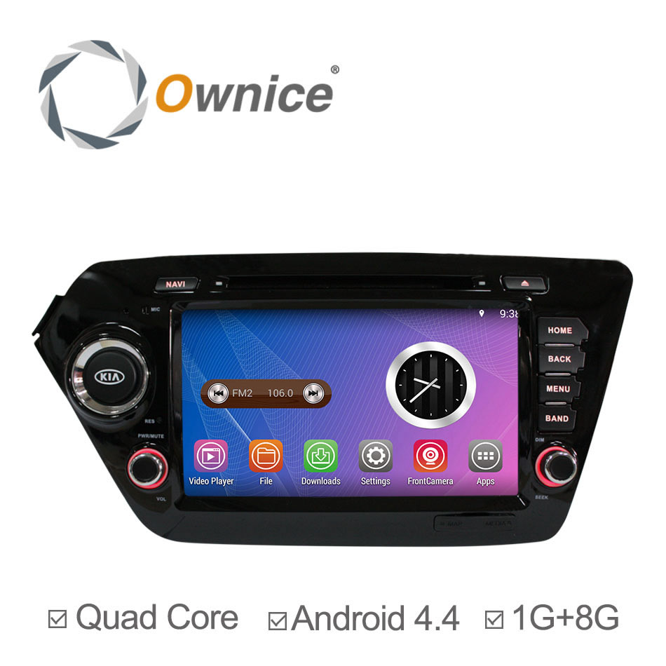 2015 Android 4.4.4 Car DVD For KIA K2 Rio DVD GPS Navigation Radio RDS Dual Core Cortex A9 Stereo Player Support OBDll 3G<br><br>Aliexpress