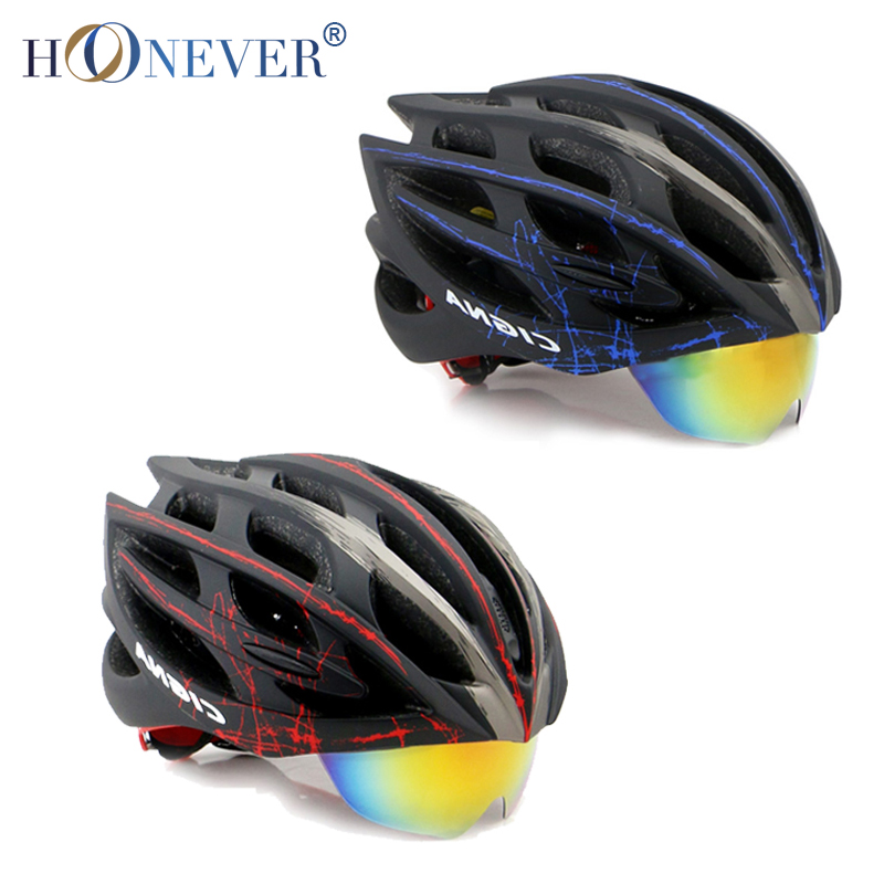 4 Colors MTB Road Cycling Helmet with Sunglasses 25 Vents 3 Lenses Breathable Casco Ciclismo Men Women Bicycle Bike Helmet(China (Mainland))