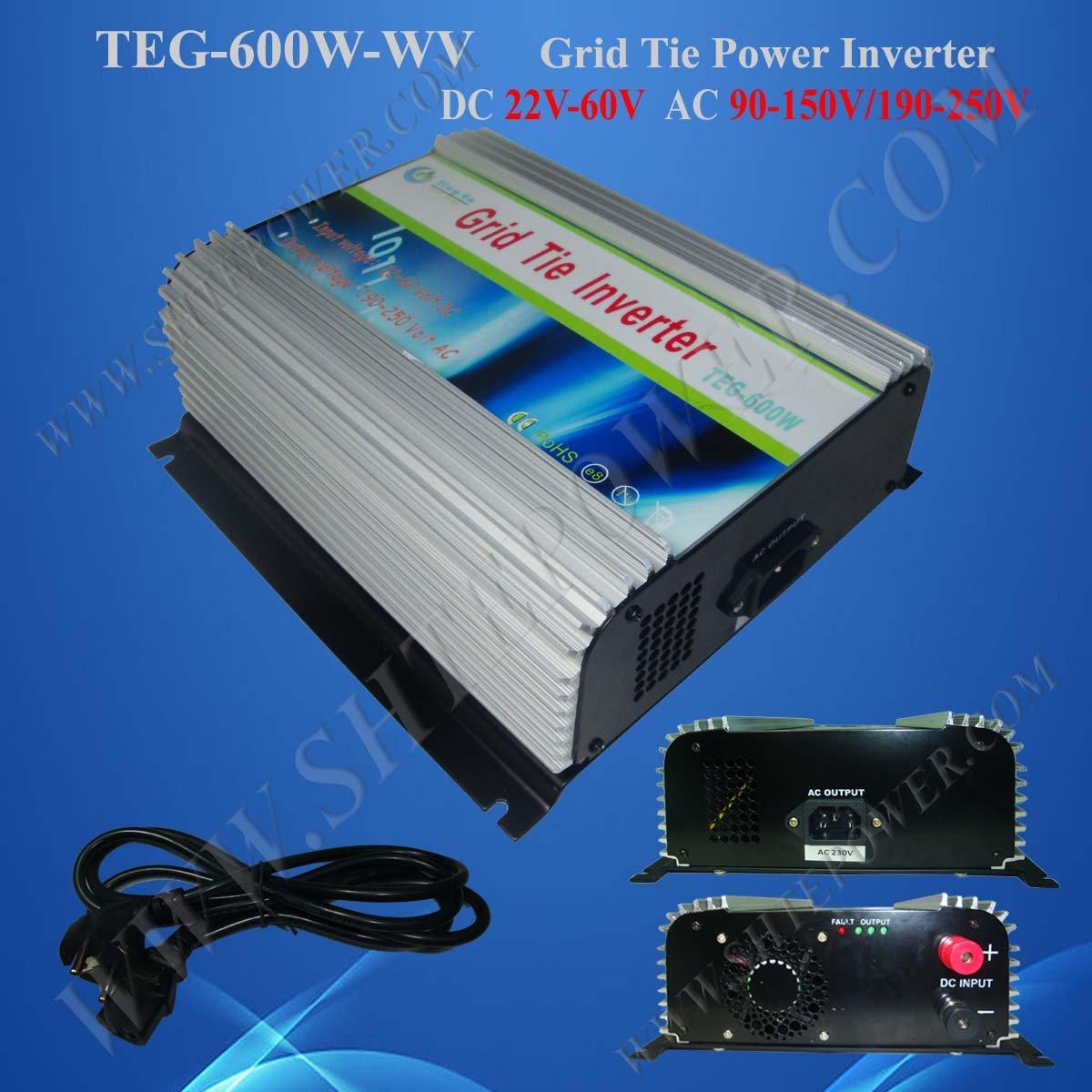 Grid Tie Solar Power Inverter 600W DC 22V-60V to AC 220V Solar Cell System(China (Mainland))