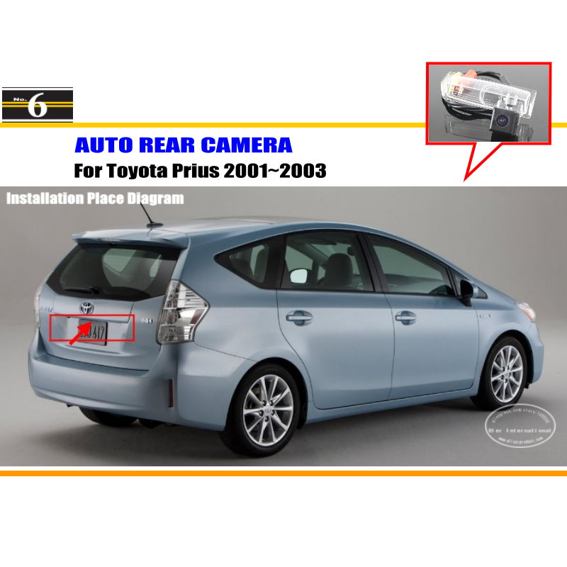 For Toyota Prius 2001~2003 - RearView Camera / Backup Parking Camera / HD CCD RCA NTST PAL / License Plate Light OEM(China (Mainland))