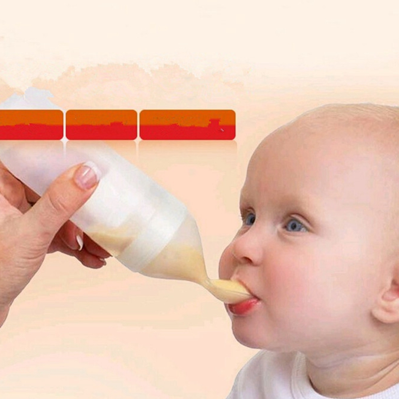 2016 Silicone extrusion font b feeding b font baby rice cereal spoon children spoon baby feeder