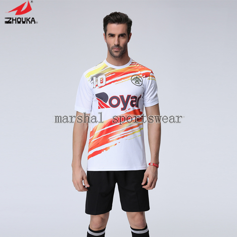 2016 Newest design,fully sublimation custom soccer jersey for men(China (Mainland))