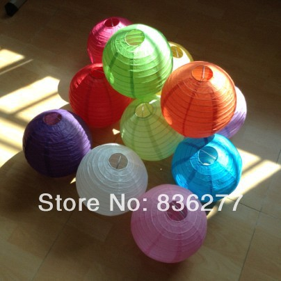 Wedding Round Chinese Paper Lanterns 30pcs/lot (8 inches) Chinese New Year Decorations Free Shipping(China (Mainland))