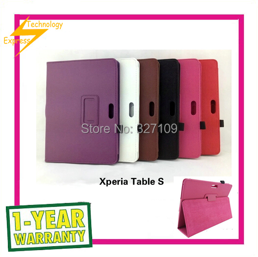 New Lychee pattern PU Leather Stand Case for  Sony Xperia Tablet S SGPT111 SGPT112 SGPT113 SGPT114 9.4inch Tablet PC <br><br>Aliexpress