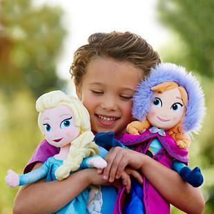 frozenned 40-50CM Elsa Anna Plush Doll Toy big Princess Stuffed Brinquedos Kids Birthday gift W3065(China (Mainland))