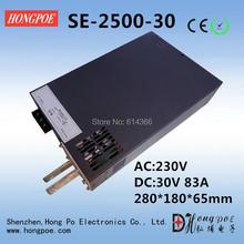 Envío gratis AC110 o 230 V 2500 W DC 0 – 30 V fuente de alimentación 30 V 83A AC-DC alta potencia 0 – 5 V de señal analógica de control