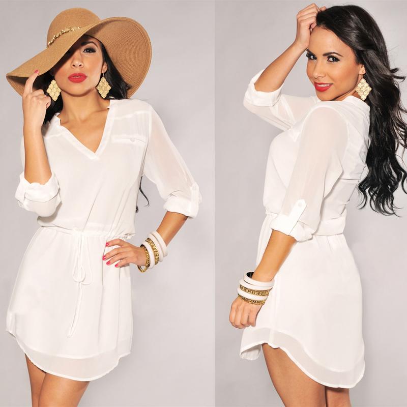 Женские блузки и Рубашки Summer blusa feminina 2015summer blusas v женские блузки и рубашки romantic beach blusa femininas2015 sh022